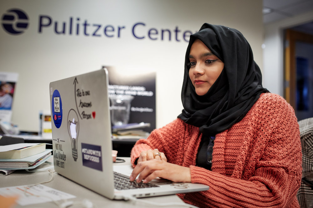 Ifath Sayed, student at Northwestern University in Qatar, interning at the Pulitzer Center for Crisis Reporting in Washington, D.C.