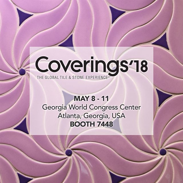 We are excited to be exhibiting at @coveringsshow in Atlanta May 8-11 and invite you to stop by booth 7448 for our uncovering of new shapes, designs and colors!! Creating artistry in tile 🎨 . . . #coverings18 #ceramictile #handcrafted #handcarved #handpainted #tileaddiction #luxury #luxurytile #tile #luxuryhomes #luxurylifestyle #starbucks #interiordesign #interiordesigner #kitchendesign #kitchendetails #luxuryarchitechture #bathroomdesign #creative #art #homeimprovement #homedecor #homedesign #tiletuesday
