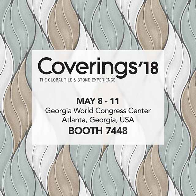 Tomorrow we are at @coveringsshow in Atlanta May 8-11 and invite you to stop by booth 7448 for our uncovering of new shapes, designs and colors!! Creating artistry in tile 🎨 . . . #coverings18 #ceramictile #handcrafted #handcarved #handpainted #tileaddiction #luxury #luxurytile #tile #luxuryhomes #luxurylifestyle #starbucks #interiordesign #interiordesigner #kitchendesign #kitchendetails #luxuryarchitechture #bathroomdesign #creative #art #homeimprovement #homedecor #homedesign #tiletuesday
