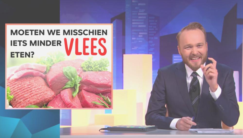 Gaan humor en vlees eten samen? - Lubach laat het zien. Ietsjes minder vlees eten zou eigenlijk al veel beter zijn.