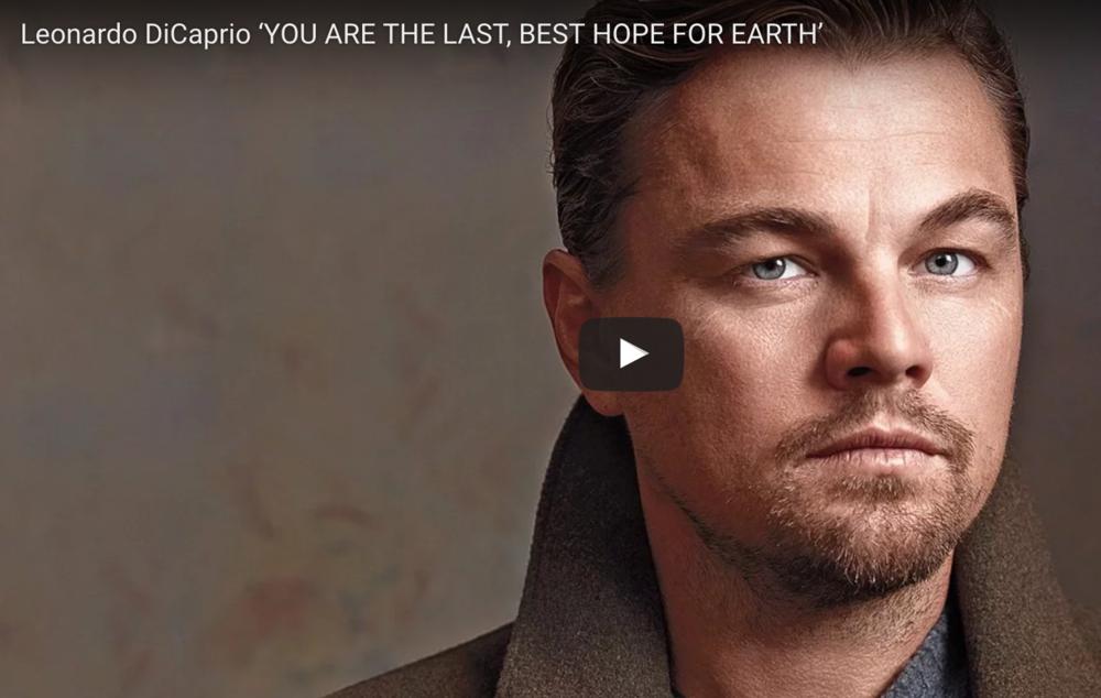 Leonardo probeert een klimaat 'titanic' te voorkomen - Zie hier zijn passievolle speech tijdens de tekening van het Klimaatverdrag van Parijs in 2017. Het duurt ± 7 min.
