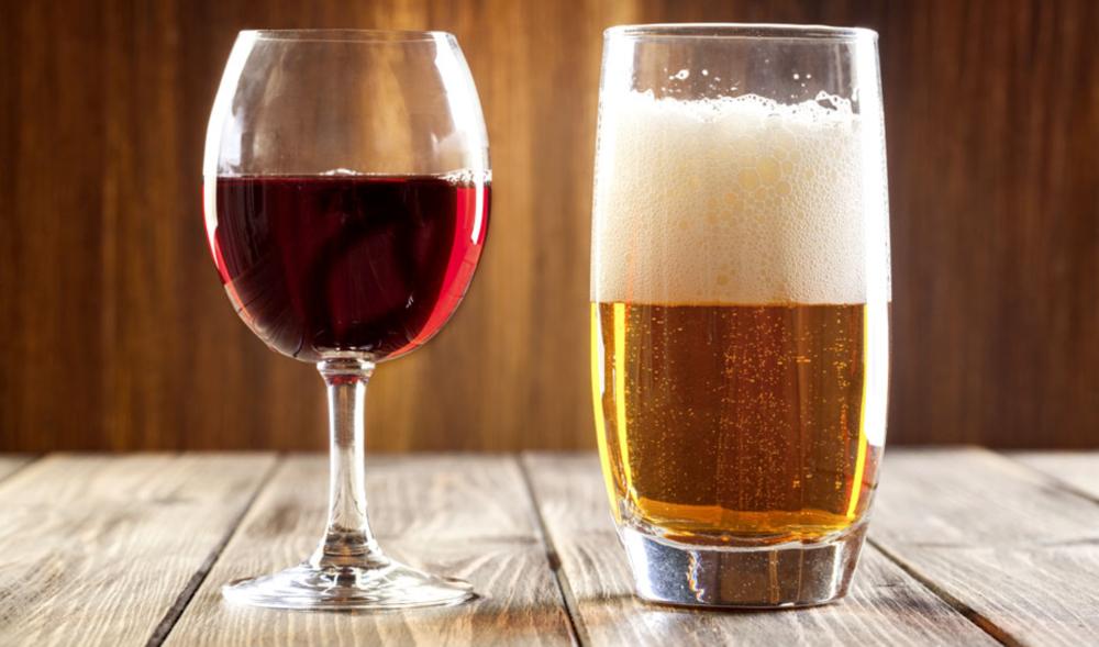 bier en wijn -