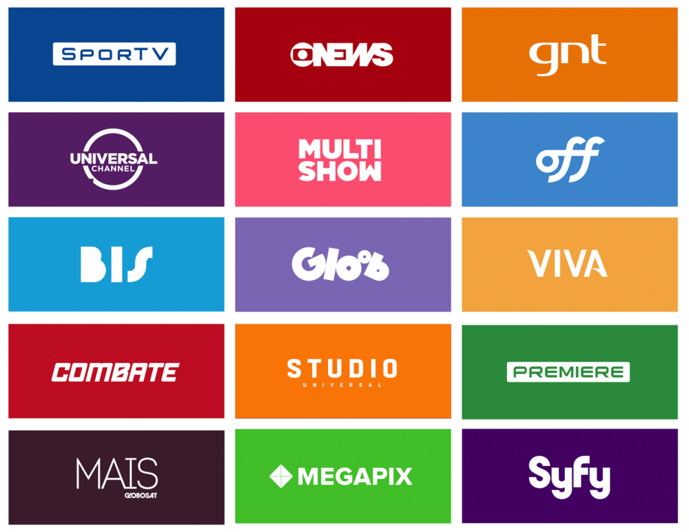 Some paid TV channels delivered by Globosat Play platform.