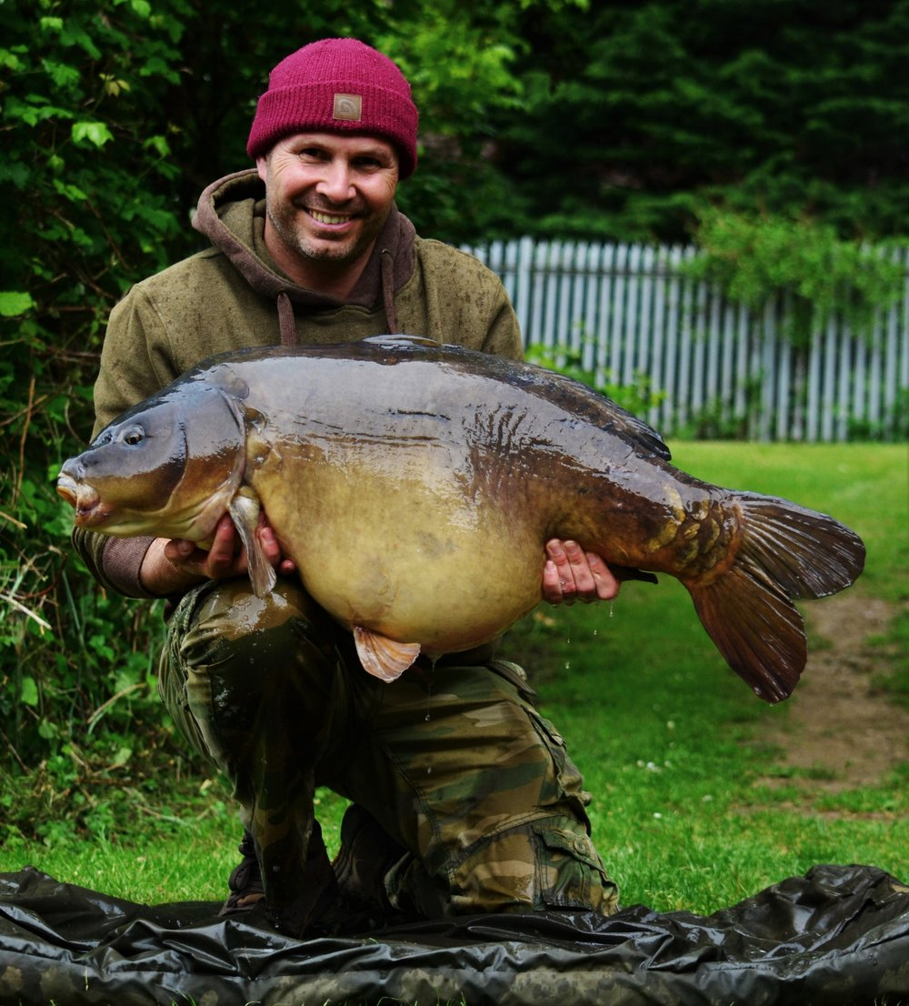 A dark beast of a fish, Scar, a shade under 47lb.