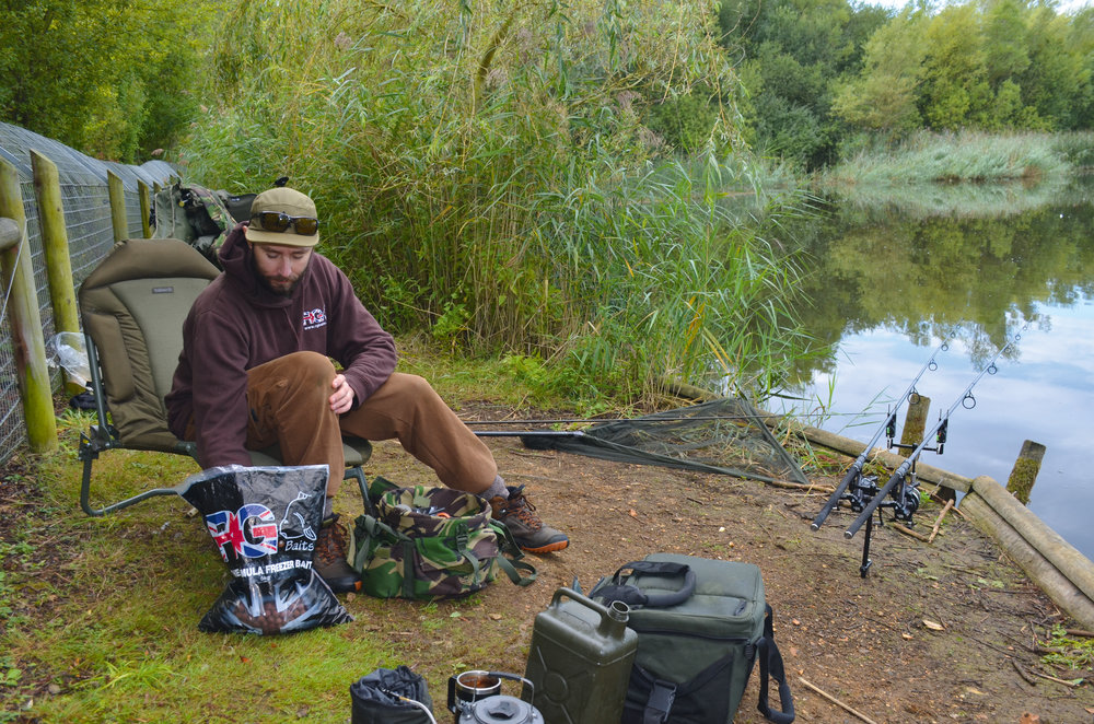 Two rods out on the dam wall another productive area.