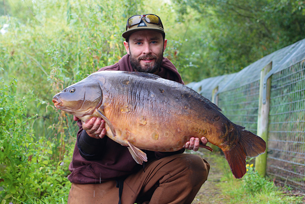 A cracking 30lb plus fish from the dam wall