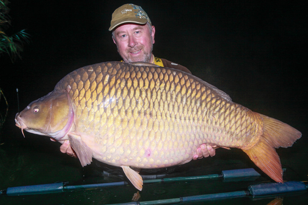 A night of big-fish action started with this 64lb common.