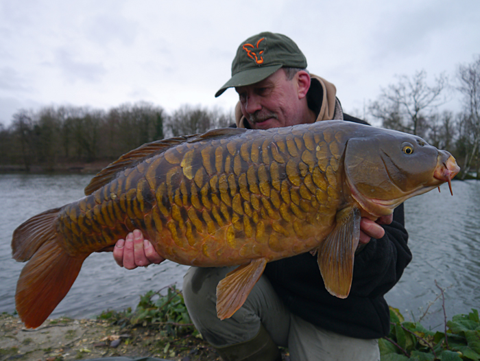 The carp are looking their best, as this January fully shows.