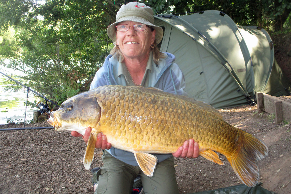 Tina Brown with the biggest fish of the weekend.jpg