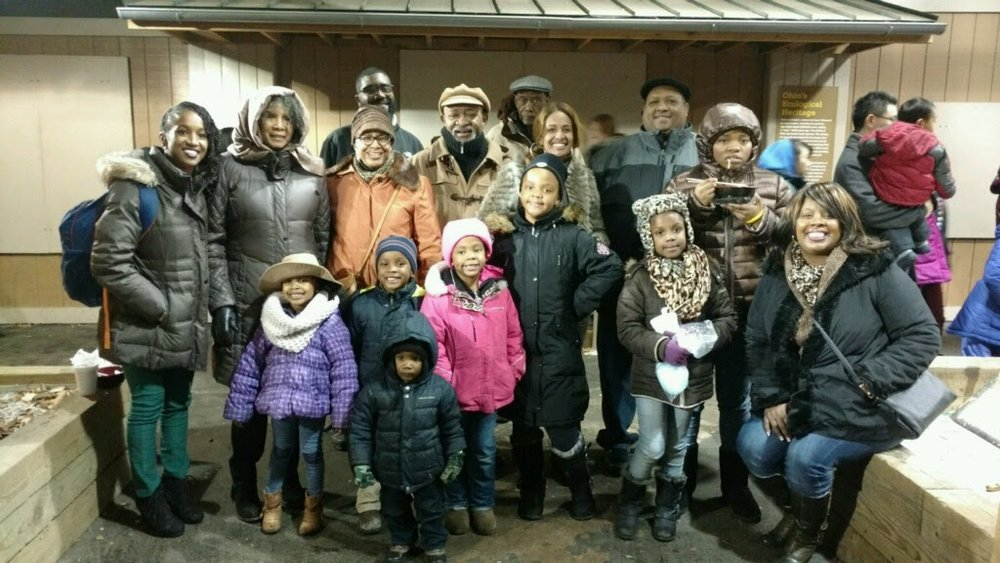 half of my blended crew at the chinese lantern festival on christmas eve