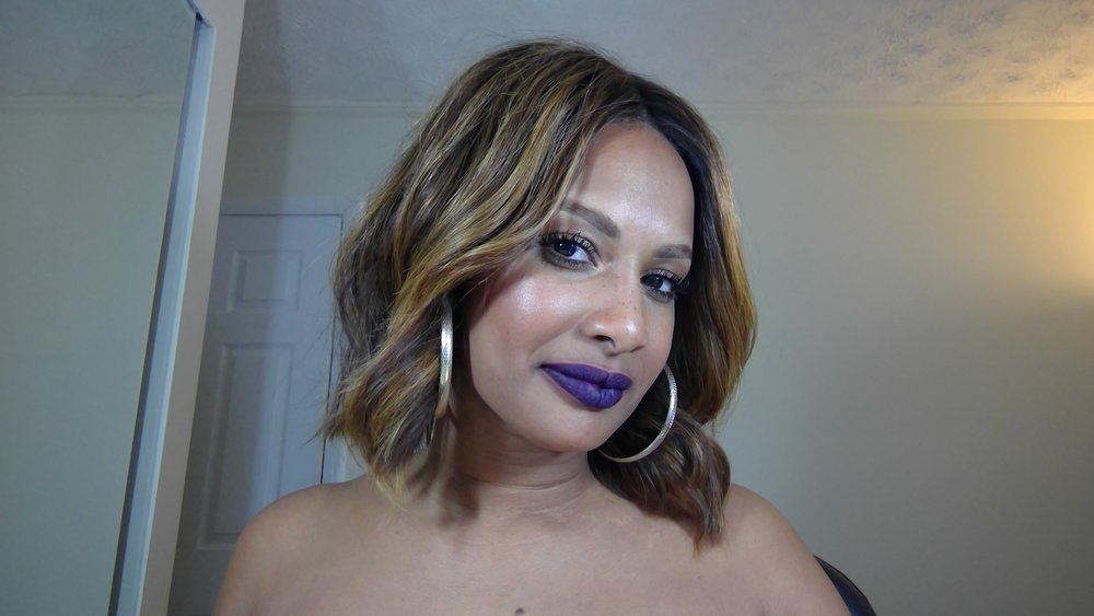 black currant with mac cyber world lip liner