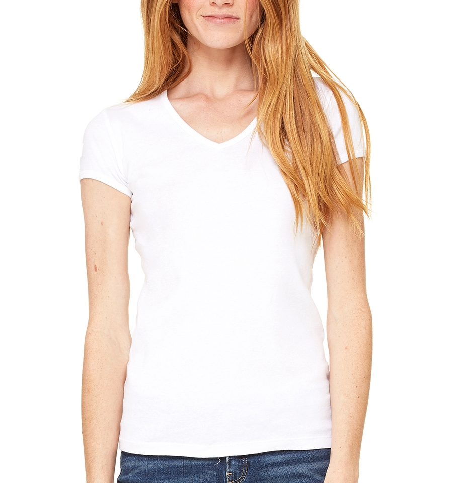Bella + Canvas Women's Rib V-Neck