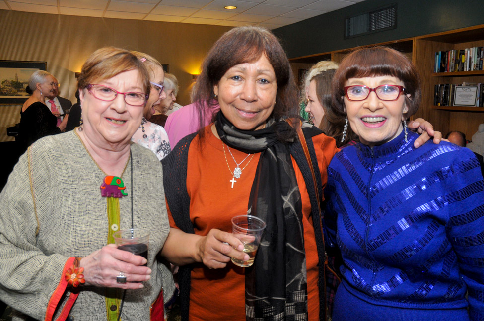 Residents Delores Wolfe, Michaele Duroseau, Gertrude Whitney