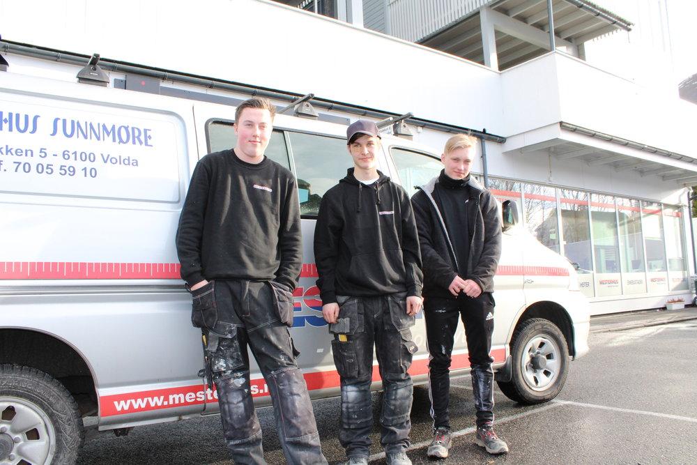 Marius Lien, Elias Aarseth og Steffen Myklebust