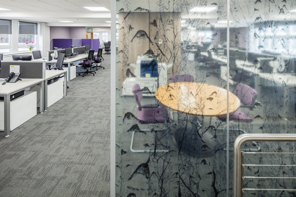 Interior design office refurbishment fit out Glasgow