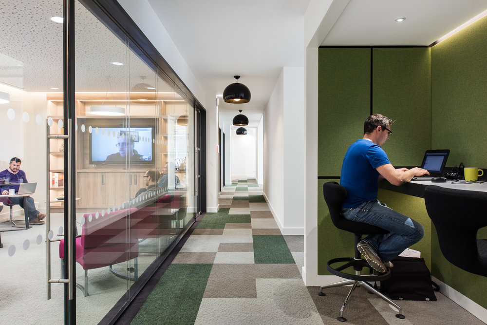 The new  office interiors for Orchard Newcastle