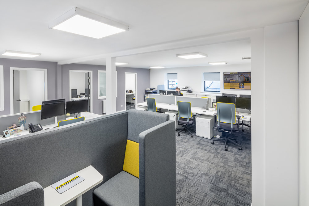 Interior design,  office fit out and furniture  for Lomond Plant in Falkirk