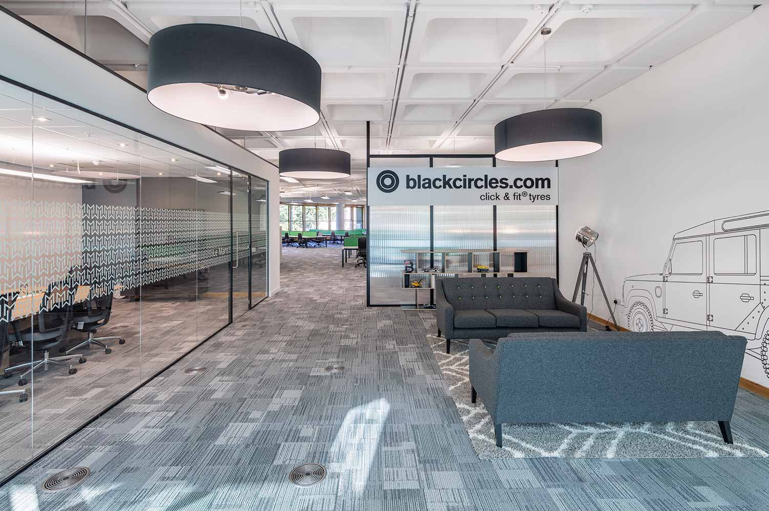 Interior design fit out and furniture for blackcircles edinburgh