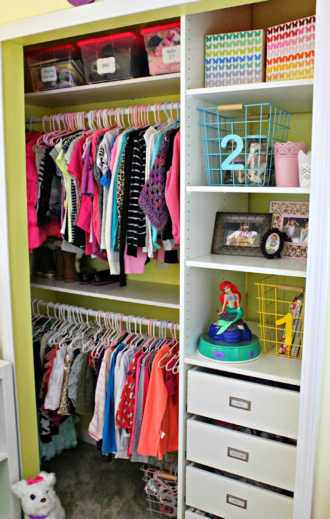 The Girls Closets After Renovation. Open, Bright And Inviting. An Organized  Space That Encourages Children To Clean Up After Themselves, Not To Mention  ...