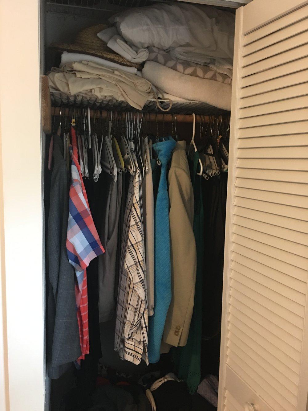 before 'hers' master closet