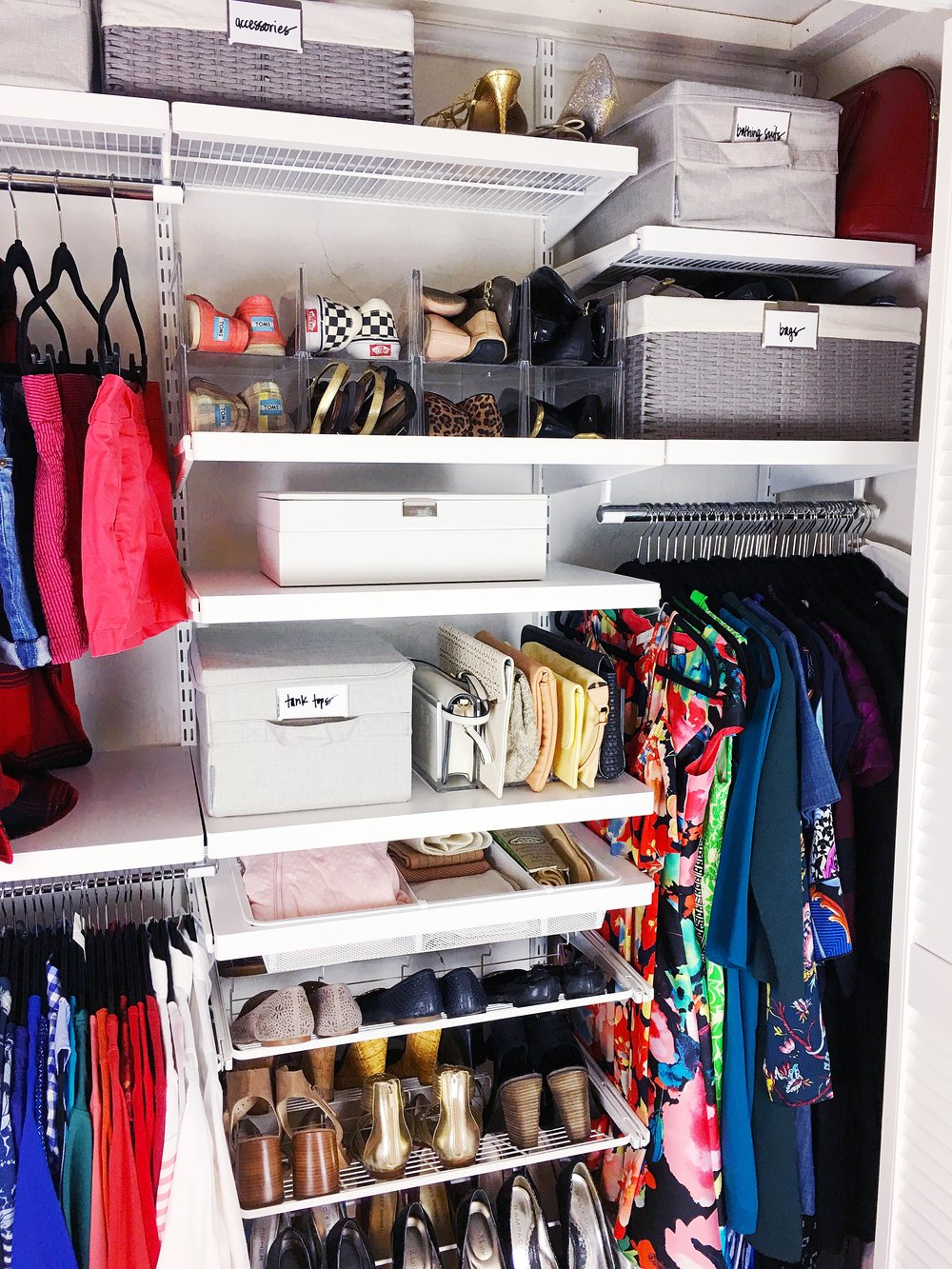 guest closet organization after
