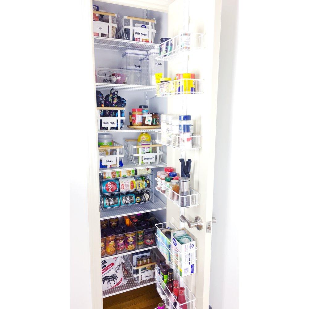 organized simplicity pantry