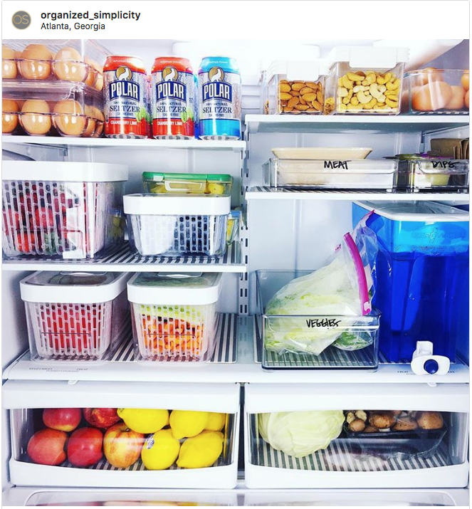 fridge organization organized simplicity