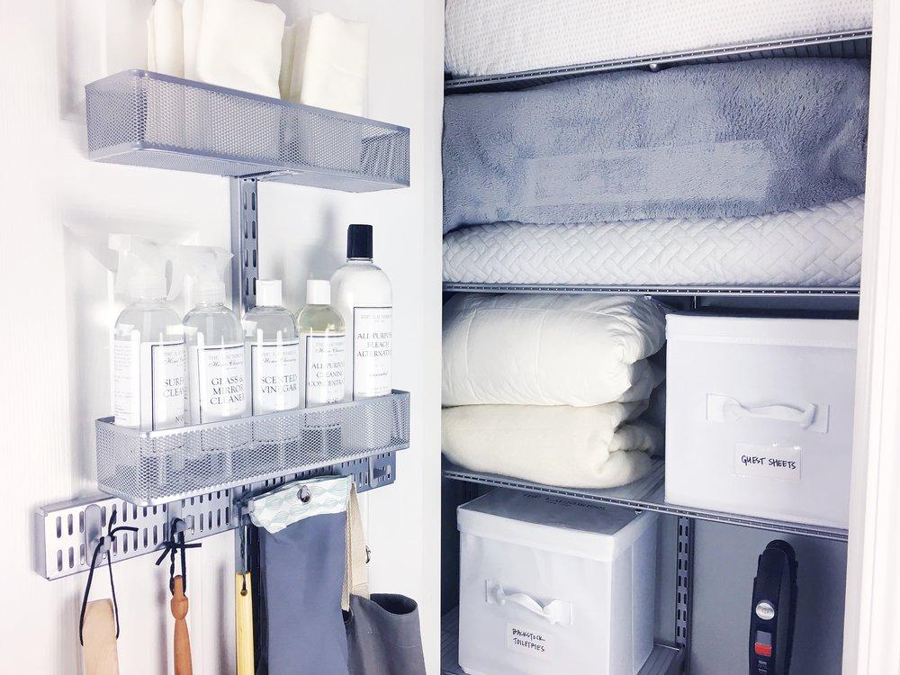organized simplicity linen closet