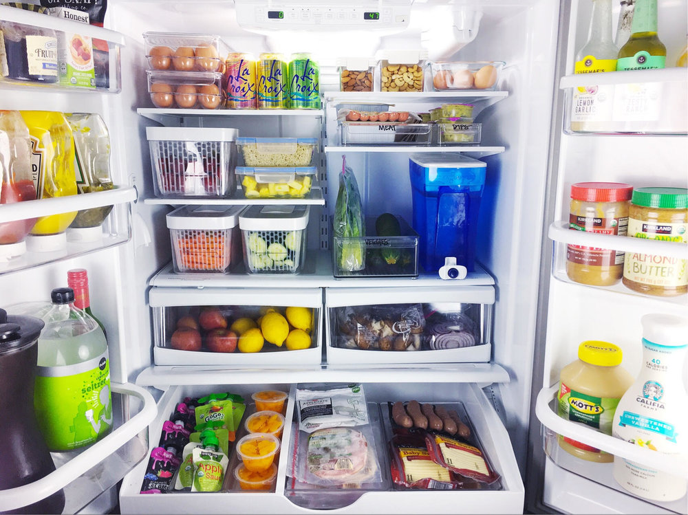 organized simplicity fridge organization
