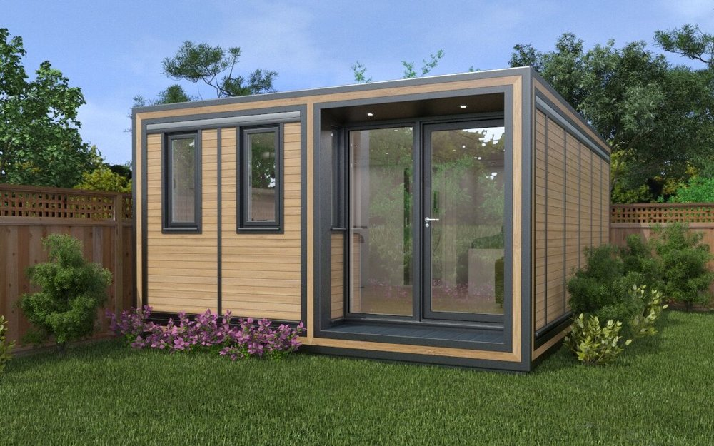 The Zedbox 455 garden annexe provides a substantial living pod at 4.3m x 5.9m. From just £40,000.