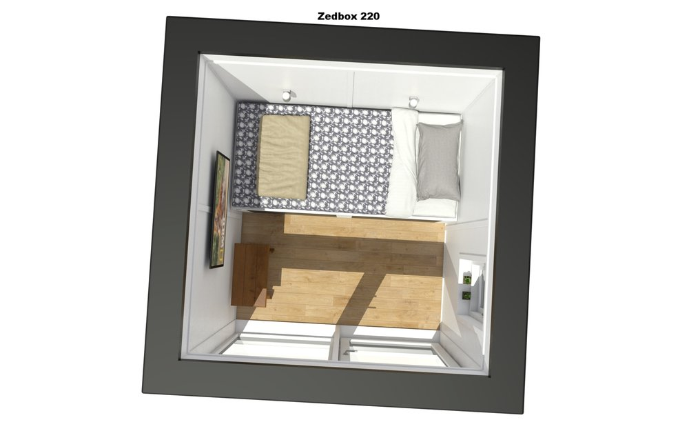 Top down shot of the Zedbox 220 interior