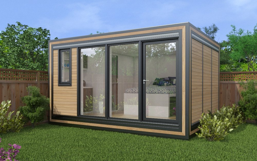 ZEDBOX 430  (4 x 3)  Internal Size: 4259 x 3188  External Size: 4279 x 3658  Bed Options: Single or Double  Kitchen Options: Micro Kitchen or Double Kitchen  Wet Room Options: Yes  Portico: No  Price:  £24,000    Optional Extras    Request Zedbox Catalogue
