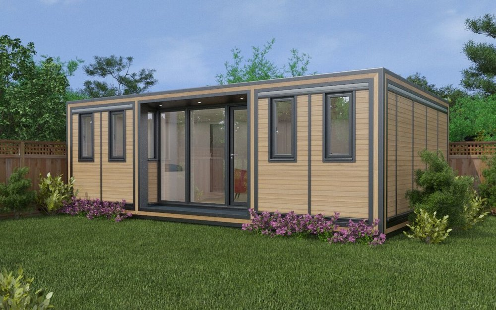 ZEDBOX 745  (7 x 4.5)  Internal Size: 7472 x 4817  External Size: 7942 x 5287  Bed Options: Single or Double or Two Doubles  Kitchen Options: Micro Kitchen or Kitchen  Wet Room Options: Yes  Portico: Yes  Price:  £45,000    Optional Extras    Request Zedbox Catalogue