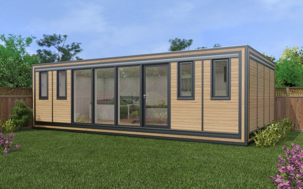 ZEDBOX 840 (8 x 4) Internal Size: 8543 x 4259 External Size: 9013 x 4729 Bed Options: Single or Double Kitchen Options: Micro Kitchen or Kitchen Wet Room Options: Yes Portico: No Price: £45,000 Optional Extras Request Zedbox Catalogue