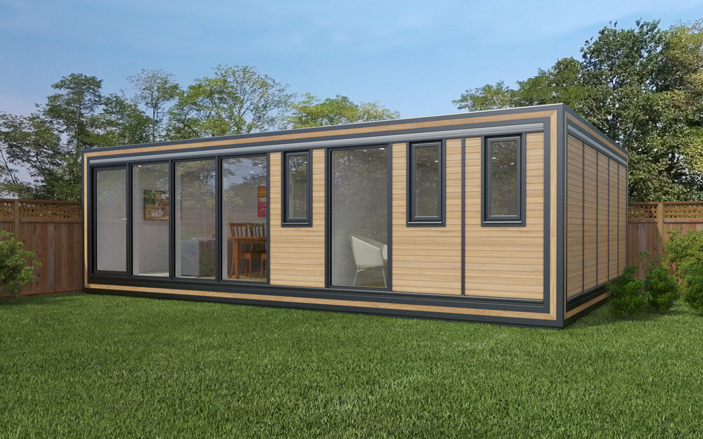 ZEDBOX 850  (8 x 5)  Internal Size: 8543 x 5330  External Size: 9013 x 5800  Bed Options: Single or Double or Two Doubles  Kitchen Options: Micro Kitchen or Kitchen  Wet Room Options: Yes  Portico: No  Price:  £56,000    Optional Extras    Request Zedbox Catalogue