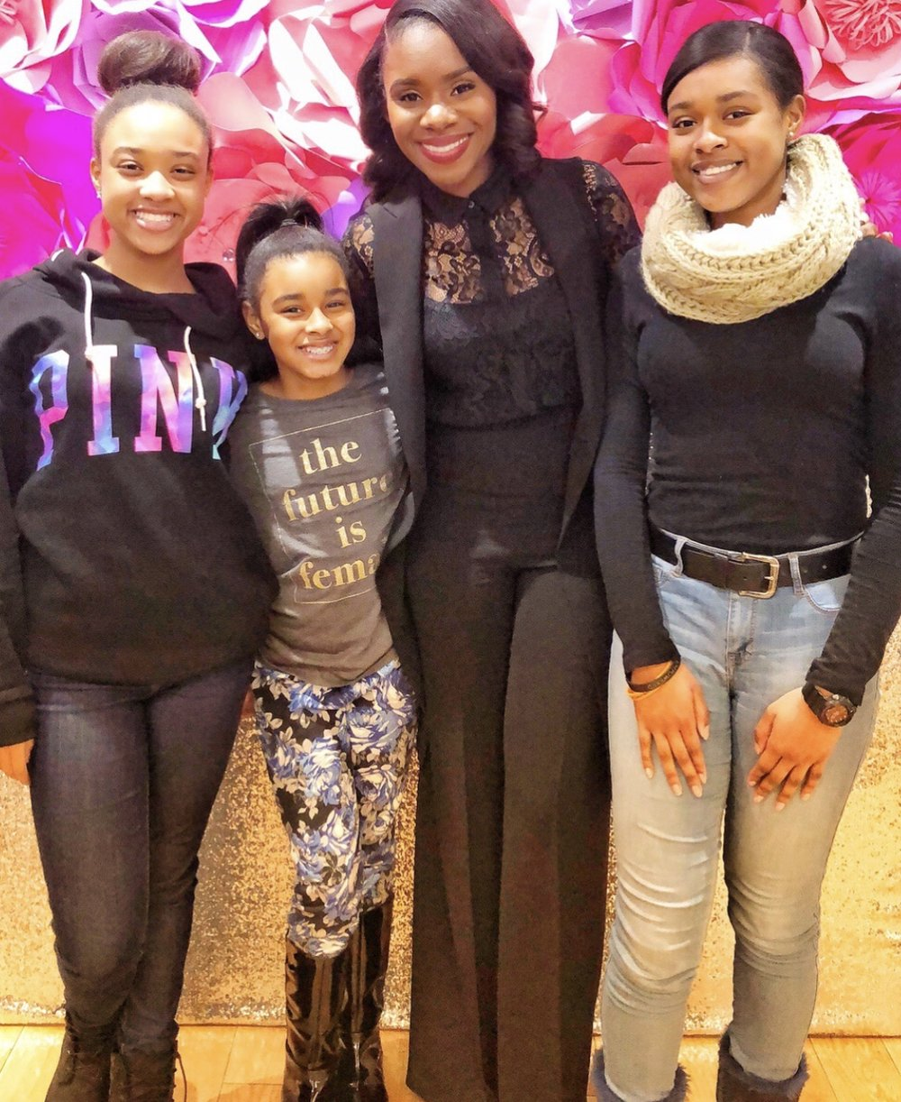 Kareem Gayle of Richemont with a few beautiful mentees