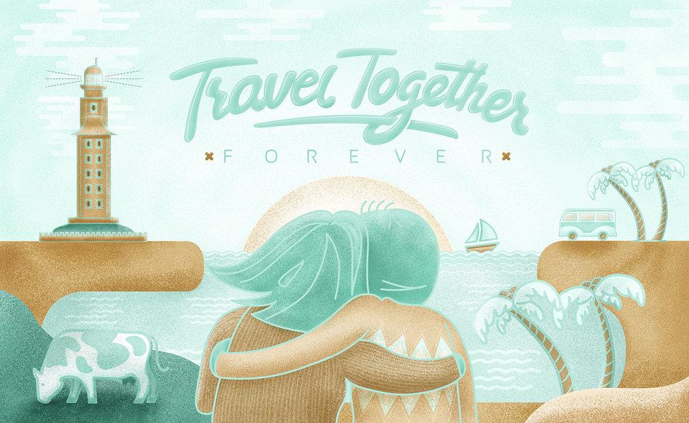 Travel Together Forever - Wedding card