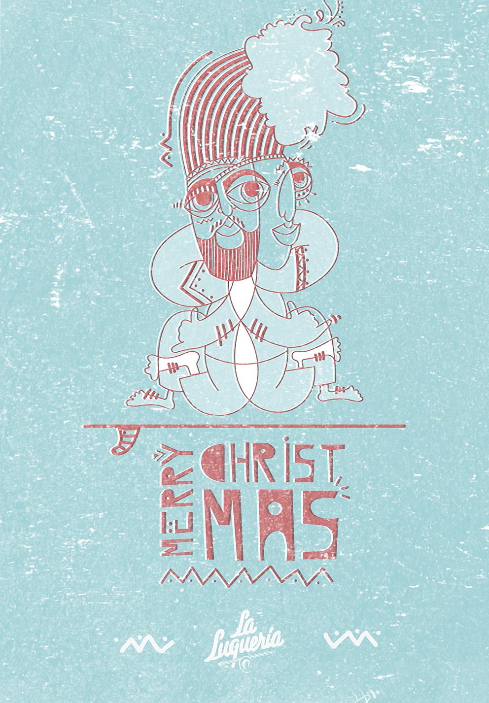 Christmas card - La Luqueria