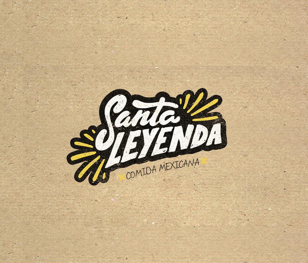 Logo Santa Leyenda - Handlettering