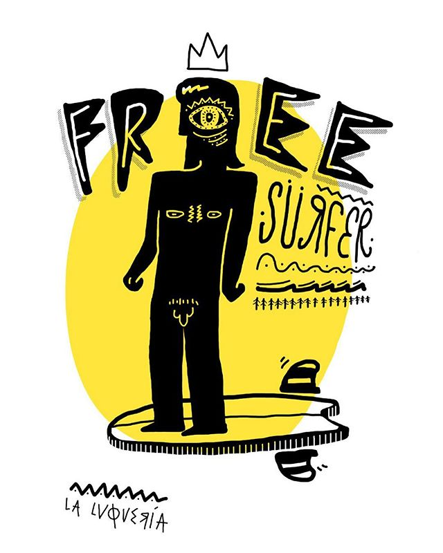 Free Surfer#brosfactory #laluqueria #creativestudio #art #illustration #ilustracion #illustrationoftheday #skate #sk8 #sk8forfun #skateboard #surfing #surf #surf4fun #ilustracion #freesurf #freesurfer