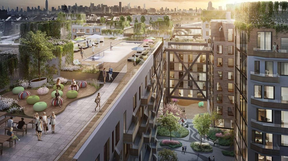 In a new development in Brooklyn, agriculture will be a rooftop amenity allowing residents to easily enjoy hyper-local produce. (Picture Credit: Tower Farms)