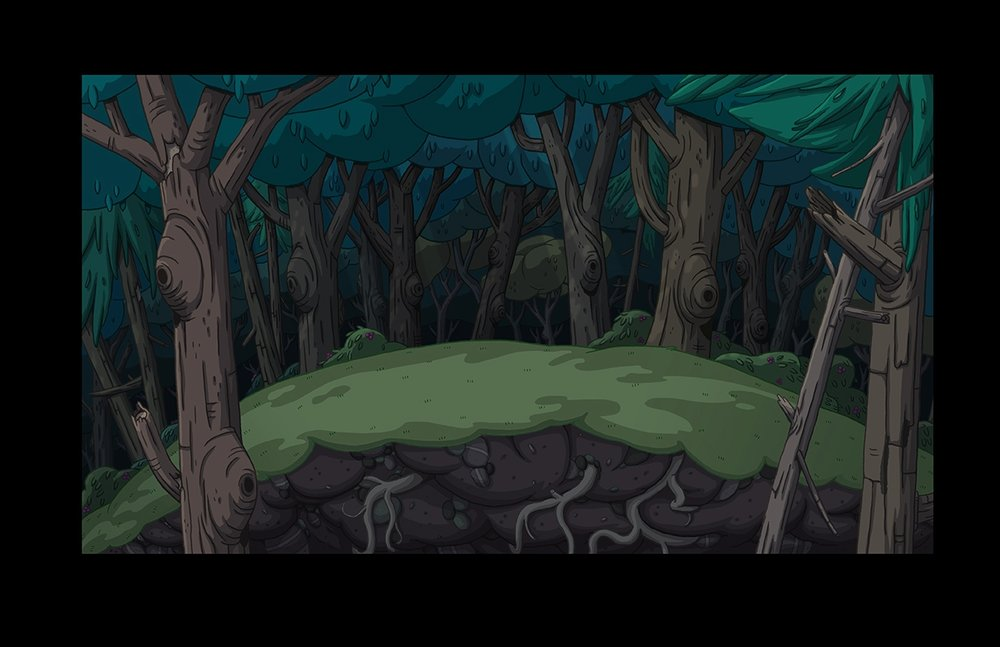 Adventure Time Season 8   Background Paint  copyright Cartoon Network Studios