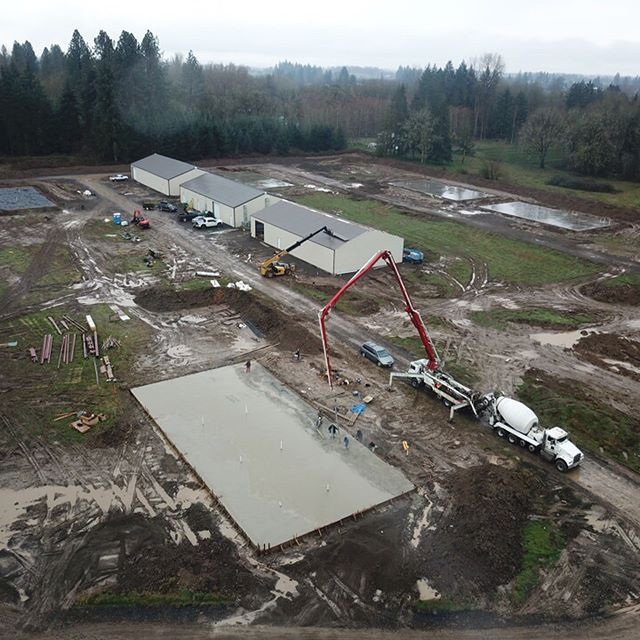 Some new drone shots from #deweyfarms . #portland #oregon #oregonmade #cannabis #cannabiscommunity #marijuana #indoorgrow #growspace #drone