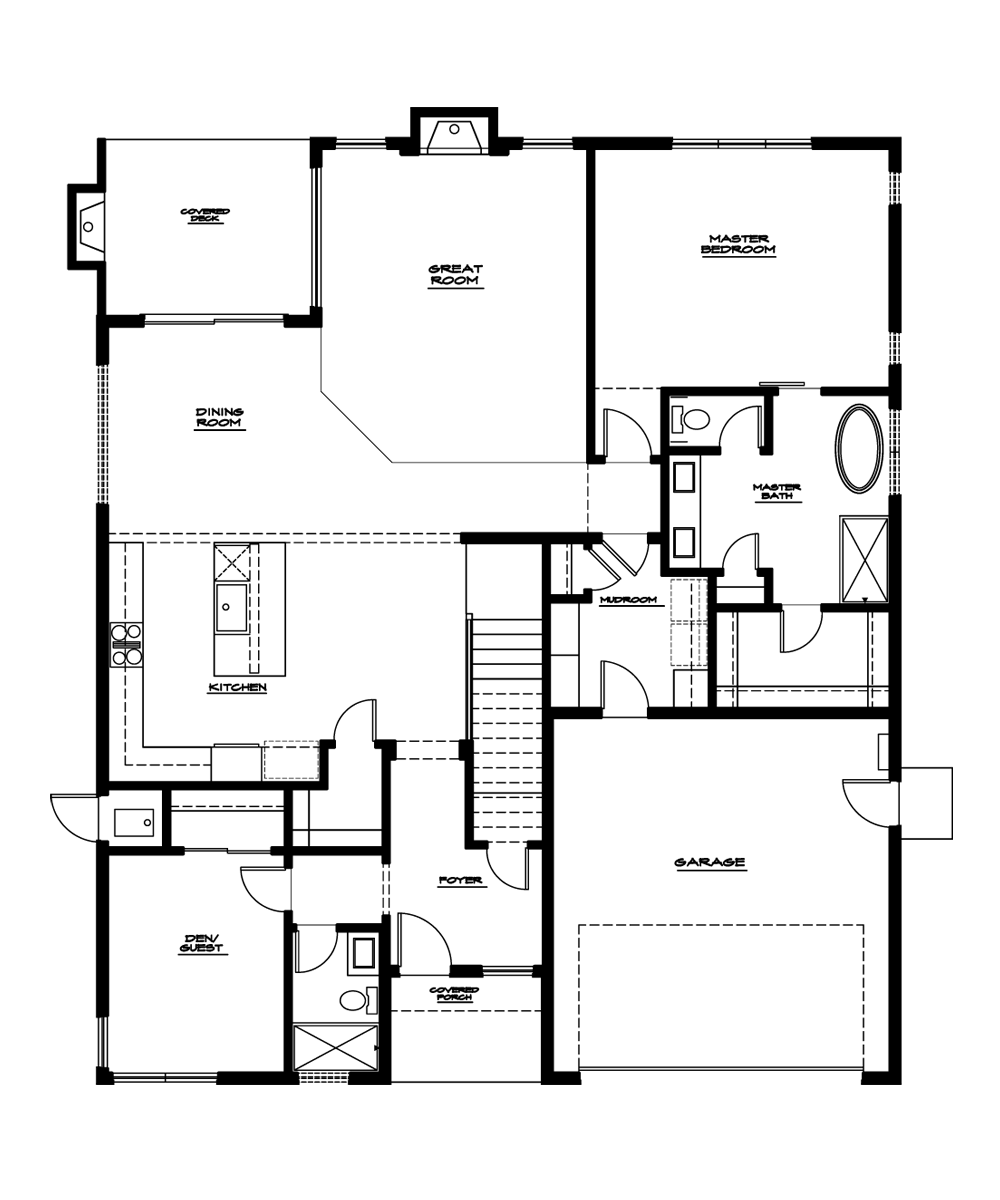 Cypress Plan—Main Floor