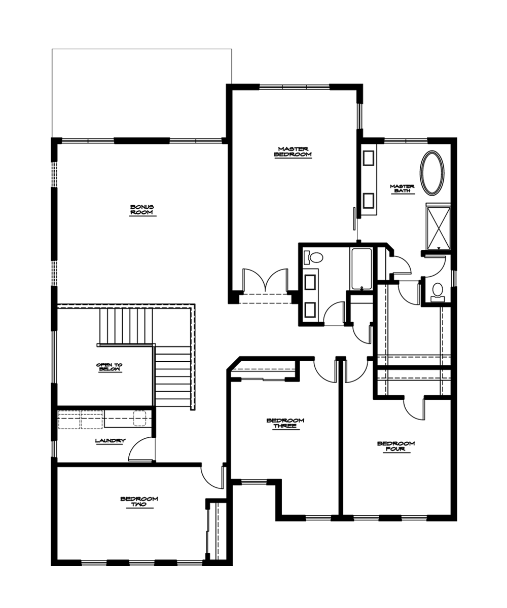 Sequoia Plan—Upper Floor