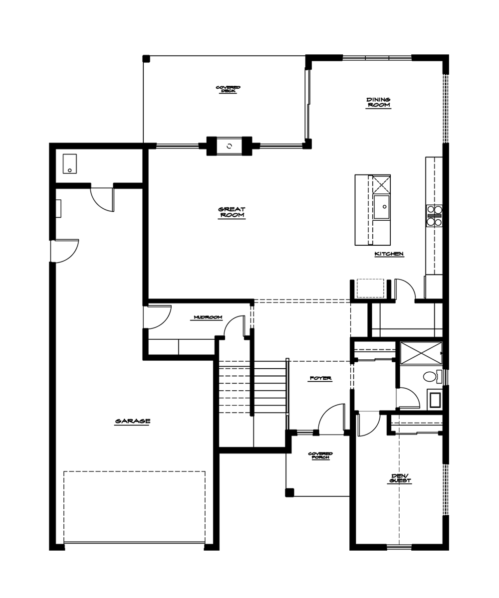 Dogwood Plan—Main Floor