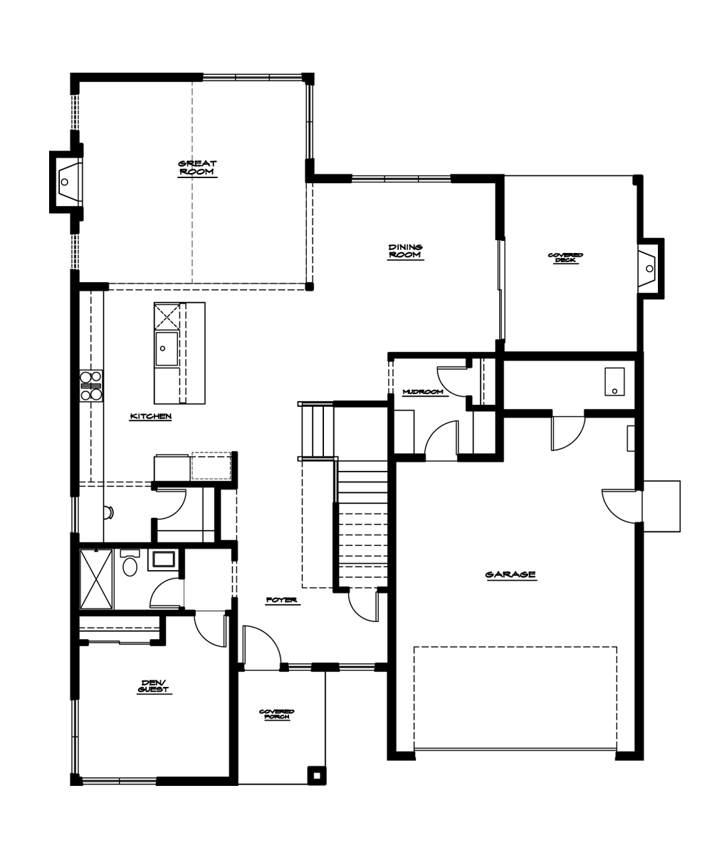 Magnolia Plan—Main Floor