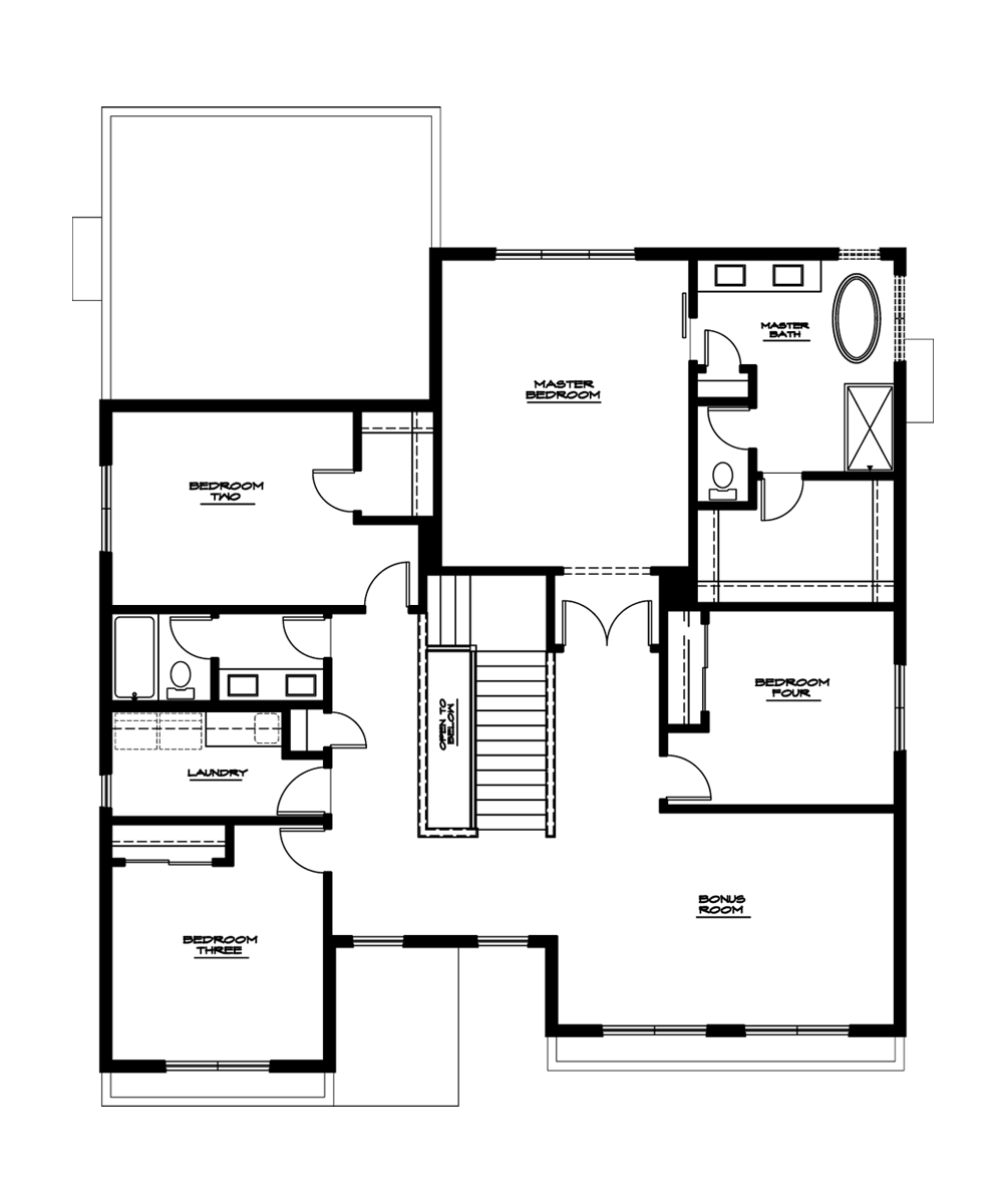 Magnolia Plan—Upper Floor