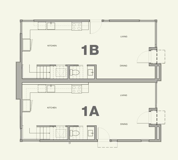 Townhouse 1A & 1B—1st Floor