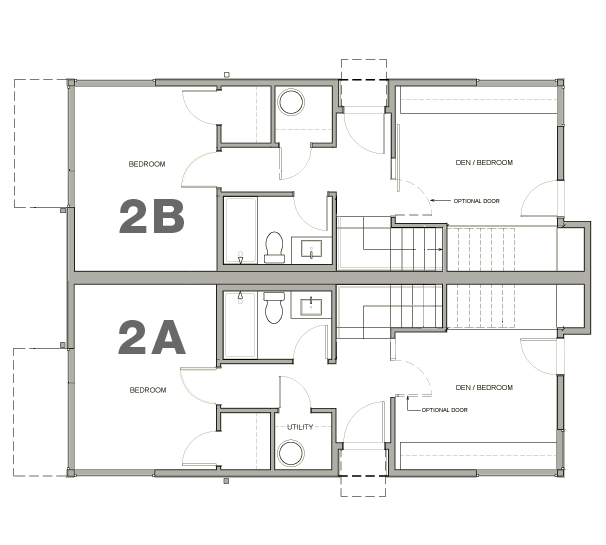 Townhouse 2A & 2B—1st Floor